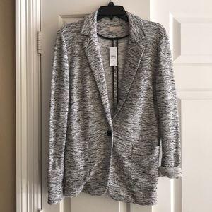 LOFT Textured Knit Unlined Modern Blazer w/pockets